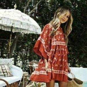 New Boho Vintage Floral Summer Festival Dress